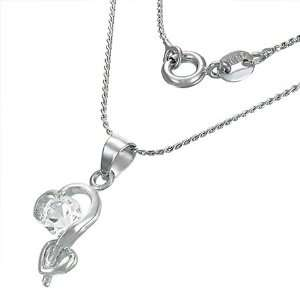 The Stainless Steel Jewellery Shop   Fashion Spiral Open Love Heart