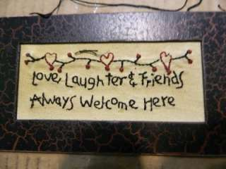Love Laughter & Friends Stitchery
