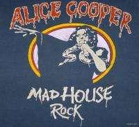 ALICE COOPER Vintage Concert SHIRT 70s TOUR T RARE ORIGINAL 100%