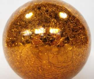 Kugel Midwest 6 Gold Crackle Glass Christmas Tree Ornament