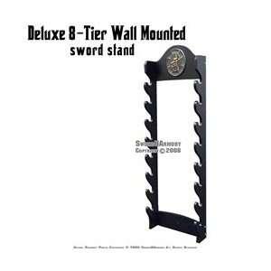 Tier Wall Mounted Sword Display Stand With Kanji