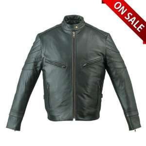 Leather Jackets   Mens Leather Motorcycle Jacket MJ209