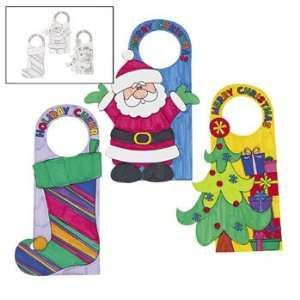 Color Your Own Christmas Door Hangers   Craft Kits