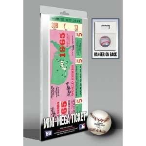 World Series Mini Mega Ticket   Los Angeles Dodgers