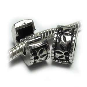 Pro Jewelry (Two) Clip Lock Bead Flowers Fits Pandora
