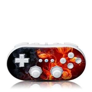 Flower Of Fire Design Skin Decal Sticker for the Wii