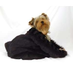Black Ultraluxe Faux Mink Pet Dog Sak Bed (Medium)