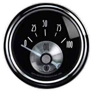 Auto Meter 2028 2 1/16 Oil Pressure, 0 100 psi, SSE, Prestige Black