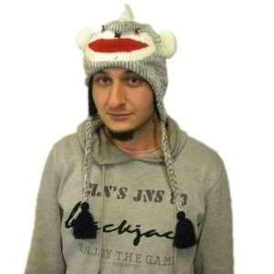 Knit Sock Monkey Brand New Animal Hat High Quality acyrlic