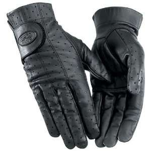 RIVER ROAD WOMENS TUCSON LEATHER GLOVES (XX LARGE) (BLACK