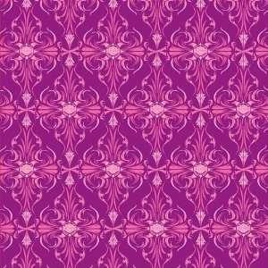 Harley Davidson Motorcycle Pink Geometric Foil 12 x 12