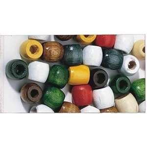 Wooden Barrel Beads   Wooden Barrel Beads, Pkg of 100