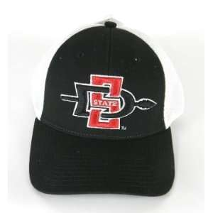 San Diego State Aztecs Black and White Mesh Adjustable Cap