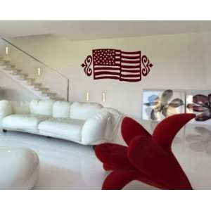 United States Flag Embellishments Patriotic Vinyl Wall Decal Sticker