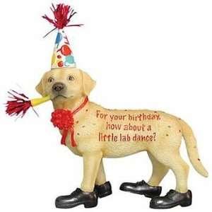 Happy Birthday Lab Dance Figurine