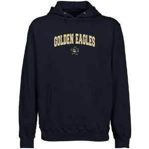 Oral Roberts Golden Eagles Navy Blue Logo Arch Lightweight Pullover