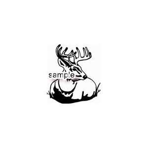 DEER 2 HUNTING 10 WHITE VINYL DECAL STICKER Everything