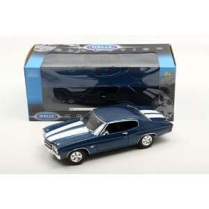 Welly 1/18 1970 Chevrolet Chevelle SS 454: Blue: Toys & Games
