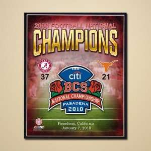 Alabama Crimson Tide 2009 BCS National Champions Composite with Score
