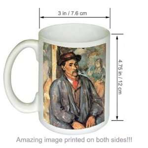 Paul Cezanne Art COFFEE MUG Peasant in a Blue Smock Kitchen & Dining