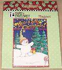 Mary Engelbreit HAVE A JOLLY CHRISTMAS Magnet BNIP~Cute