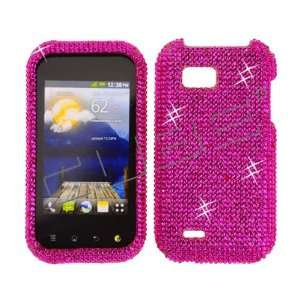 Hot Pink CRYSTAL RHINESTONE DIAMOND BLING COVER CASE 4 LG myTouch Q