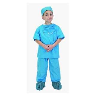 Jr Doctor Scrubs   Blue Child Costume Size 12 14 (): Toys & Games