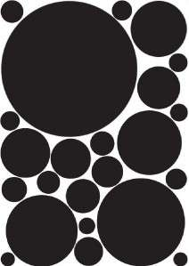 23 Solid Spots Dots Circle Removable Wall Stickers Kids