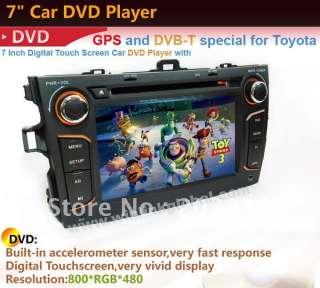Din HD Car Monitor GPS Video Radio Navigation DVD Player for