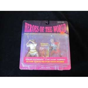 stands against Hannibal action figures with story book Toys & Games