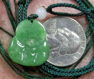 Green 100% Natural A Jade jadeite pendant Buddha God 341582 **It have