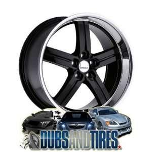 18 Inch 18x8 LUMARAI wheels MORRO Gloss Black w/Mirror Lip