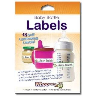 Baby Bottle Labels, Self laminating