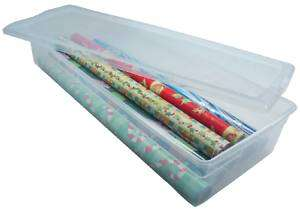 Gift Wrapping Paper Storage Box Clear Box WPB 10 【2pk】