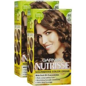 Garnier Nutrisse Level 3 Permanent Hair Creme, Light Natural Brown 60