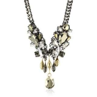 Anton Heunis Barbarella Crystal Leaf Chandelier Necklace   designer