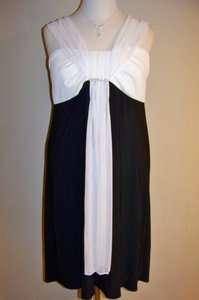 SCARLETT NITE Black & Ivory Jersey Knit Cocktail Dress, 18W *NWT $90