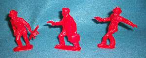 60mm plastic toy soldiers from1950s like Marx Untouchables red