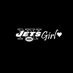New York Jets Girl #2 Car Window Decal Sticker White 8