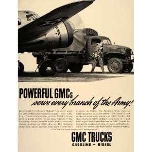 Ad GMC General Motors Army Truck Pilot WWII Plane   Original Print Ad