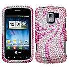 Pink Tail Crystal Diamond BLING Hard Case Phone Cover f