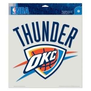 Oklahoma City Thunder NBA 8 X 8 Color Die Cut Decal