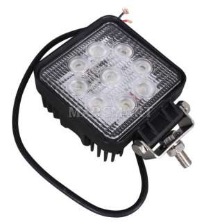 2x27W DC 12/24V LED Flood Work Lamp Light Car ATV Jeep SUV Tractor