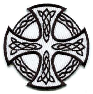 Celtic Cross Irish goth tattoo druids wicca pagan applique iron on