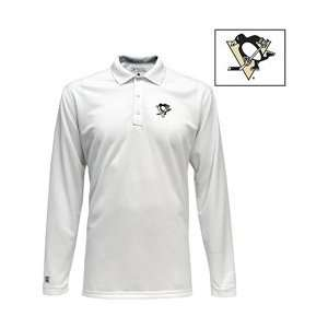Antigua Pittsburgh Penguins Victor Long Sleeve Polo Shirt   Penguins