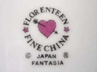 Florenteen Fine China Fantasia DINNER PLATES Floral