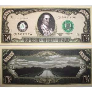 of 100 president George Washington Million Dollar Bill Toys & Games
