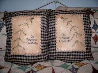 SET Primitive Pillow Christmas Tree Lot Home Decor Prim Matching Gift