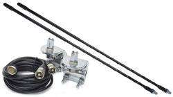 Top Loaded CB Radio Dual Antenna Kit w/mnts & coax