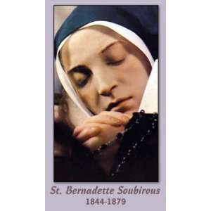 Saint Bernadette of Lourdes Holy Prayer Card